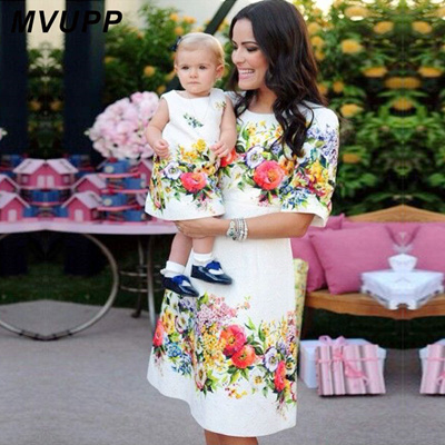 ea9b045132c9 Qoo10 - mom and daughter dresses Family matching outfits floral print  clothes ... : Women's Clothing