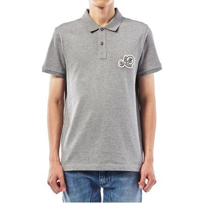 d4384648e MONCLER[Montclair] Double Logo Patch 8304200 84556 984 Men's Short Sleeve  Polo Shirt