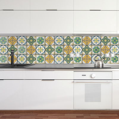 Moroccan Tiles Stickers Set Of 4 Tile Decals Art For Walls Kitchen Backsplash