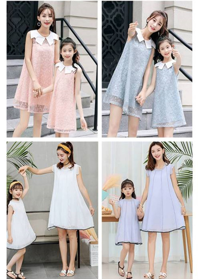 84841a72599f Mother Daughter Clothes Set   Family Matching Wear   CNY Outfits   Mommy  Girl Dress