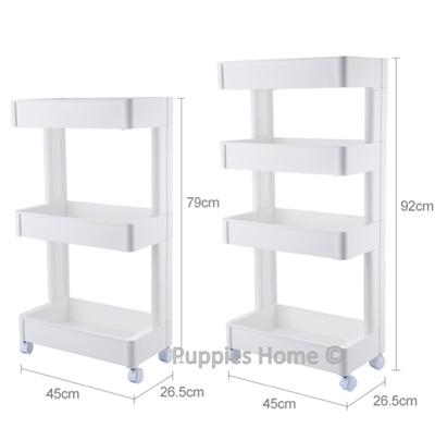 premium selection bdf70 3462d Movable Kitchen Shelf Rack Plastic Bathroom Cabinet Drawer Portable with  Wheels Vegetable Storage