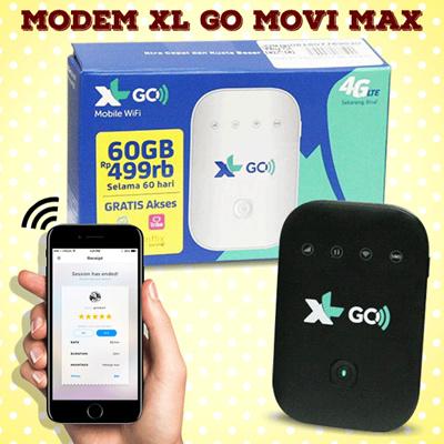 Movi max MV003 Modem 4G MiFi Bundling XL Go 60GB/2Bulan ( lock / unlocked