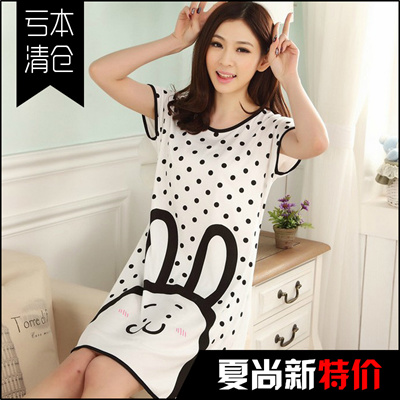 Qoo10 - mp3 Girl cartoon short-sleeved summer pajamas female summer skirt  cool...   Women s Clothing b138cd02c