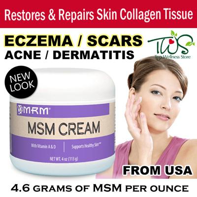 [MRM] MSM Tropical Cream 4oz /Restores Repairs Skin  Collagen/Scars/Eczema/Rosacea/Acne Scars