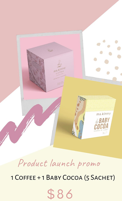 Qoo10 - Ms Kinny Slimming Coffee Mini Baby Cocoa Promo