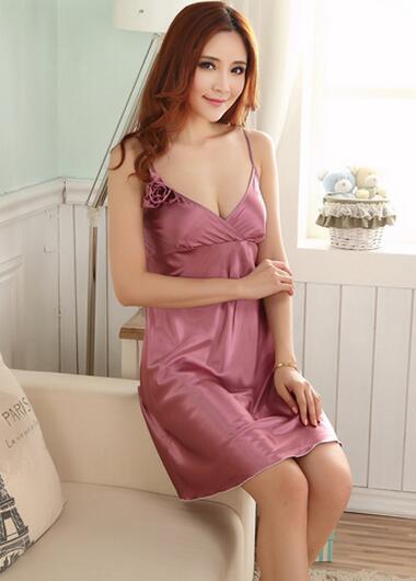 9c8b3f90a3 Ms Night Dress Sexy Strap Pajamas Spring Summer Autumn V-neck Cute  Leisurewear