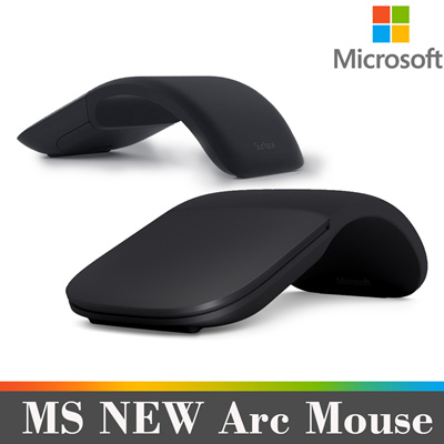 Qoo10 - MS Surface Arc Mouse (Black) / for Windows 10 / 8 1