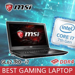 MSI BEST Gaming Laptop GL62 7RD-i7 Intel quad core Memory 8G Nahimic audio gaming sound