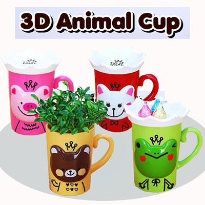 Qoo10 - ♥♥ Mug Cup ♥♥ 3D Animal Cup /Doraemon/Kerropi/Pig/Apple