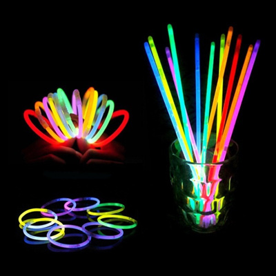 multi color glow stick light bracelets party festival christmas hallowmas party evening fun glow bra