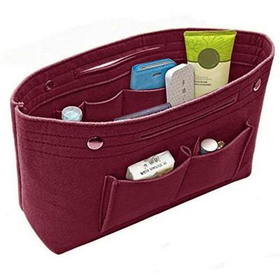 1136b5a569860 Qoo10 - Multifunction Handbag Organizer Purse Insert Bag Felt Fabric ...