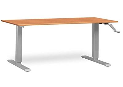 (MultiTable) MultiTable Crank Adjustable Height Standing Desk with Silver  Frame-AMD100-S