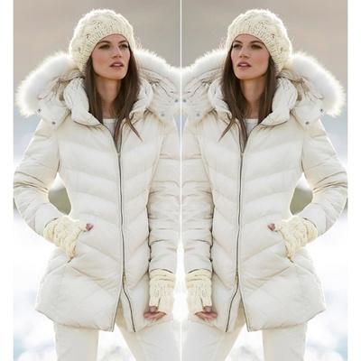 Qoo10 - Musim Gugur Musim Dingin Wanita Bulu Putih Hooded Down Jaket ... 33062bad6e