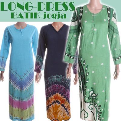Qoo10 Long Dress Kaos Baju Gamis Kaos Lengan Panjang Busana Muslim