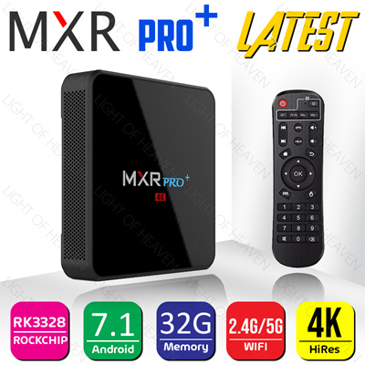 MXR PRO PLUS + Android 7 1 4GB RAM 32GB ROM Smart 4K TV Box RK3328  Quad-core 2 4G/5G Wifi BT 4 0 USB