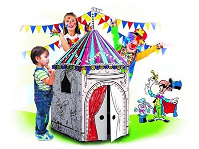 Qoo10 - My Circus Tent Cardboard Playhouse - Large Corrugated Color ...