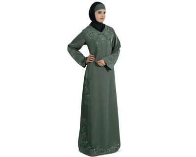 Mybatua Falisha Green Abaya Jilbab Burka Muslim Hijab Dress Ic Burqa Ay 200