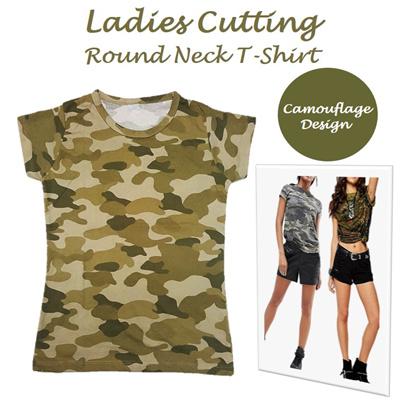 408dd89b162 Qoo10 -  MyShoppingPlace  Camouflage Round Neck Army Tee T-Shirt ☆ Ladies  Wome...   Women s Clothing