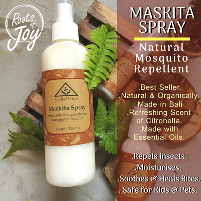 Nadis HerbalMASKITA SPRAY - Natural Mosquito Repellent-Safe for Kids n Pet!  Refreshing and Smells Great!