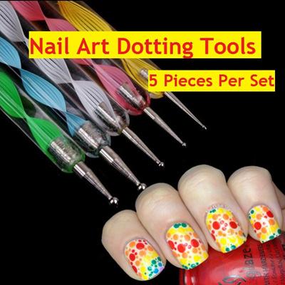 Qoo10 Nail Art Dotting Tool 5 Pieces Per Set Bath Body