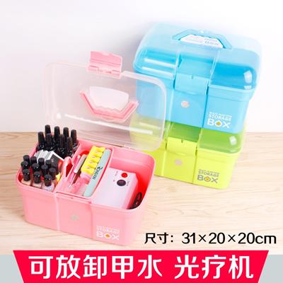 Qoo10 Nail Art Kit Cute Storage Box Nail Art College In Big Three