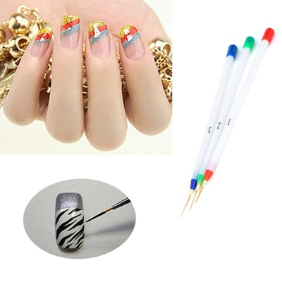 Qoo10 Nail Art Paint Pens White Red Green Blue 3pcs