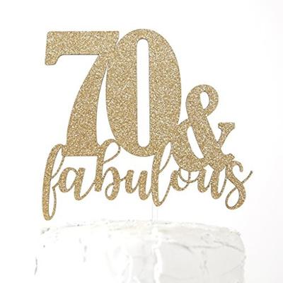Qoo10 NANASUKO 70th Birthday Cake Topper 70 fabulous Premium
