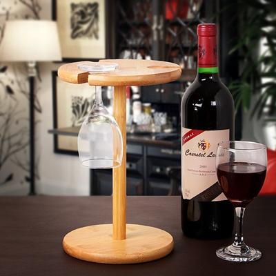 Natural Bamboo Wine Glass Holder For 3 Glasses / Wine Rack / Glass Rack