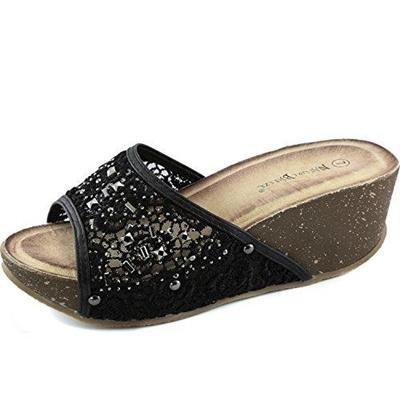 bde549706a0d Qoo10 - (Nature Breeze) Women s Sandals DIRECT FROM USA Women s Comfy Metal  Rh...   Shoes