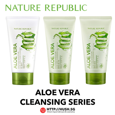 Nature Republic Aloe Vera Cleansing Series - Cleansing Gel Cream Cleansing Gel Foam Foam Cleanser