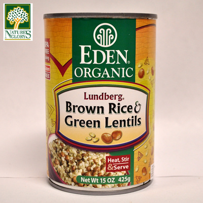 [Nature's Glory] Eden Organic Rice and Green Lentil Canned 425g (Non GMO  Gluten Free Vegan)