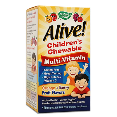 Natures Way[Natures Way] Alive Childrens Multi-Vitamin 120 Chewable tablets  / Kids / Healthy Eyes / Folic Acid