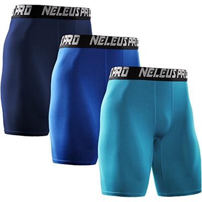 Neleus Mens 3 Pack Performance Compression Shorts