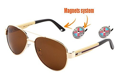 46ff03ed7a1e Never Fall Sunglasses. Two magnet clips secure sunglasses on your own hat.
