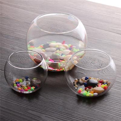 Qoo10 New 101215cm Round Clear Glass Vase Fish Tank Ball Bowl