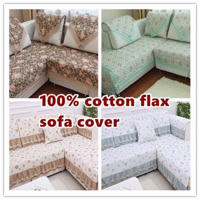 Qoo10 New cotton flax sofa covers pads Local Seller Korea