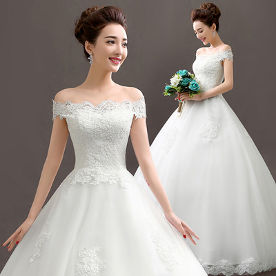 New 2016 Wedding Dresses Bride Lace Dress Chinese Gown Korea Hot Trend