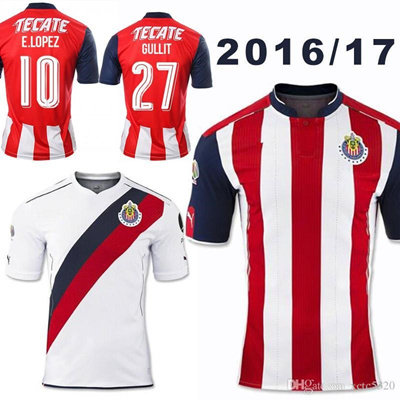 7a2489ddf Qoo10 - New 2017 Soccer Jersey Chivas de Guadalajara 2016 17 Home Red Away  Whi...   Sports Equipment