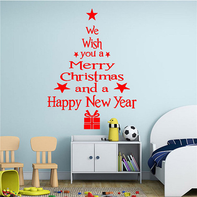 Christmas Wall Decals Removable.New 27 X 45cm Merry Christmas Wall Art Removable Home Vinyl Window Wall Stickers Decal Decor No Sticky Residue Is Left Behind