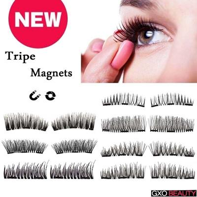 5055f3dfbf0 Qoo10 - New 3D Magnetic False Eyelashes Natural Soft Eye Makeup 4pcs/set  Makeu... : Cosmetics