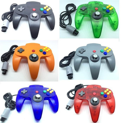 New 5 color Long Handle Controller Pad Joystick Game System for Nintendo 64  N64 without Retail ZY-PS