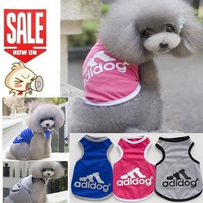 Qoo10 New Adidog Brand Dog Sport Fashion Mesh Vest Puppy Clothes
