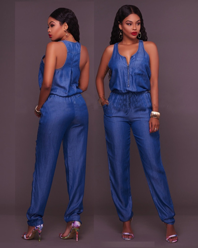 9d9302b05407 Qoo10 - New Arrival 2017 Jumpsuits Jeans European Style Women Jumpsuit Denim  O...   Men s Apparel