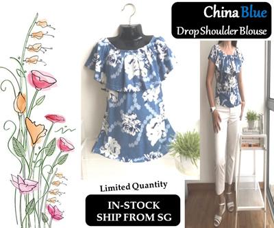 6018cc80d2eb0 Qoo10 - Drop Shoulder Top   Women s Clothing