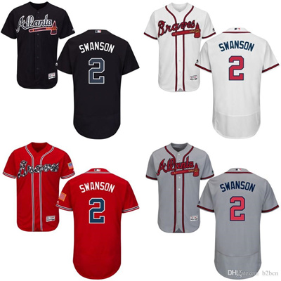 competitive price 39e54 642d9 New arrvial Atlanta Braves Jersey Mens 2 Dansby Swanson Navy Blue Cool Base  MLB Replica Jersey Stitc