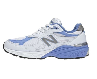 new style 4d507 a6211 New Balance 990v3 White/Blue Womens Running Shoes W990WB3