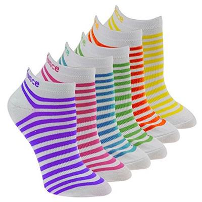 c0abedac0bc89 Qoo10 - (New Balance) New Balance Children s No Show Socks (6 Pack),  White/Pur... : Kids Fashion