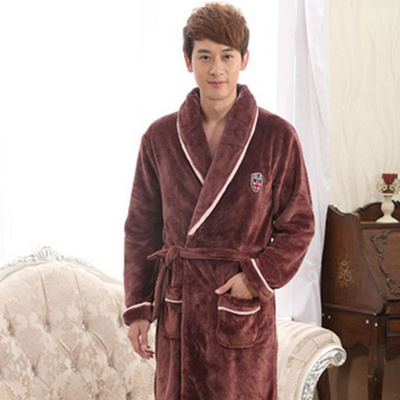 Qoo10 - New Bathrobes Men Dressing Gown Robe Men Night Gowns Thickening  Flanne...   Women s Clothing 4a998bd88