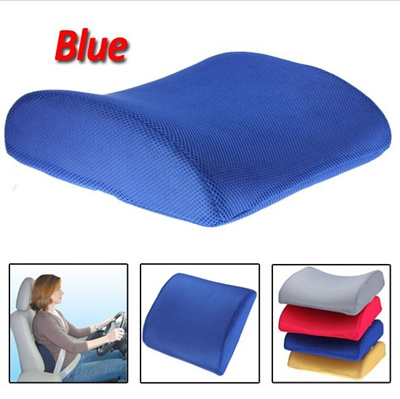 Qoo10 New Blue Memory Foam Lumbar Back Support Cushion Pillow For
