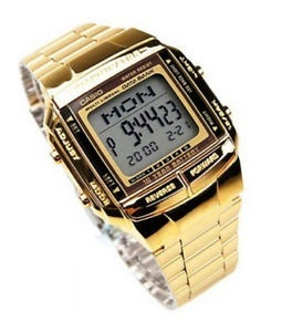 bda6e2e50ef Qoo10 - New Casio DB-360G-9A DB-360G-9D Gold Plated Digital Men ...